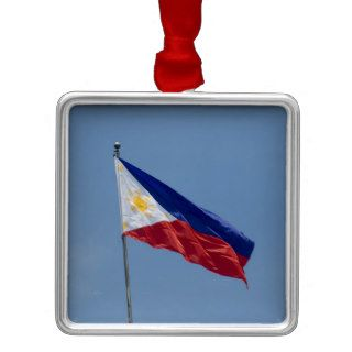 Philippines Flag (3) Christmas Tree Ornaments