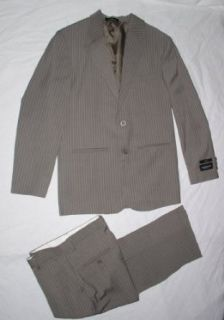 Van Heusen 2 Piece Boy's Dress Suit  Blazer & Dress Pants Set (Taupe) (20 Husky): Clothing