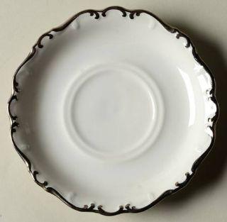 Schumann   Bavaria Platinum Elegance Saucer, Fine China Dinnerware   Thick Plati