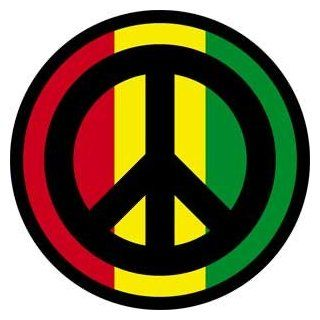 Novelty Iron On   Reggae & Rasta Peace Sign Symbol Patch: Clothing