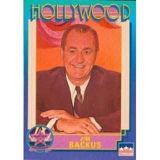 Jim Backus trading Card (Actor) 1991 Starline Hollywood Walk of Fame #15: Entertainment Collectibles