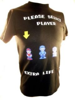 Super Mario Bros 2 Mens T Shirt   Player Select Screen (Luigi, Toad, Princess Toadstool) Clothing