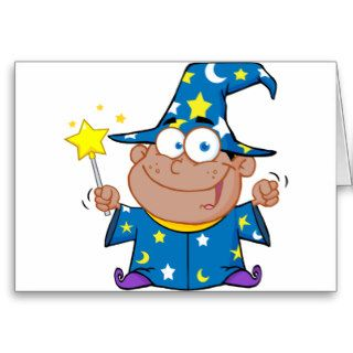 Happy African American Wizard Greeting Card