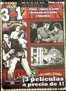 Peligro Mujeres en Accion / Mercenarios de la Muerte / Robachicos [NTSC/REGION 1 & 4 DVD. Import Latin America]: Julio Aleman, Emilio Fernandez, Maria Rojo: Movies & TV