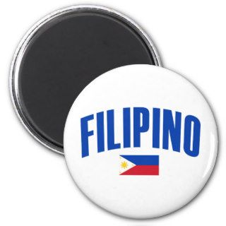 Filipino Philippine Flag Fridge Magnet