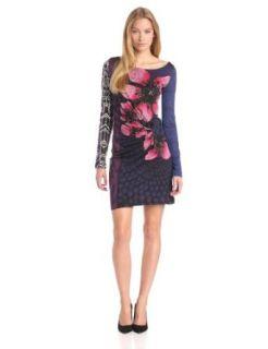 Desigual Women's Melba long Sleeves Dress, Midnight, X Small at  Women�s Clothing store