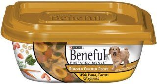 Beneful Dog Food Prepared Meals Roasted Chicken Dog Food, 10 Ounce Plastic Containers (Pack of 8)  Canned Wet Pet Food