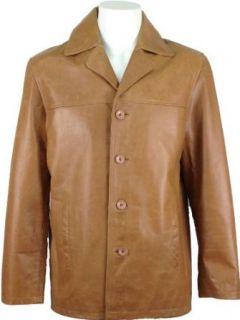 Unicorn London Men's Suit Blazer Reefer Leather Jacket at  Men�s Clothing store