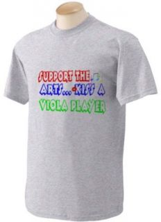 Support the Arts Kiss A Viola Player Adult Short Sleeve T Shirt In Various Colors & Sizes Clothing