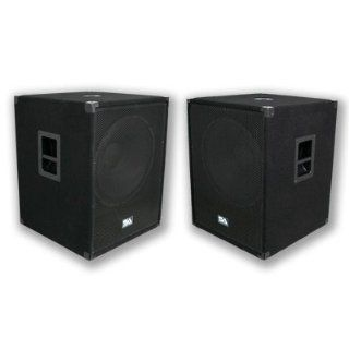 """Seismic Audio   PACKAGE   Two 18 Inch PA Subwoofers PRO Audio Band Speaker Cabinets Sub   Band, Bar, Wedding, Karaoke, DJ, 18"""" Cabs 1000 Watts RMS Musical Instruments"""