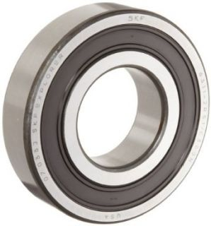 SKF 6312 2RSJEM Medium Series Deep Groove Ball Bearing, Deep Groove Design, ABEC 1 Precision, Double Sealed, Contact, Steel Cage, C3 Clearance, 60mm Bore, 130mm OD, 31mm Width, 11700lbf Static Load Capacity, 18400lbf Dynamic Load Capacity: Industrial &