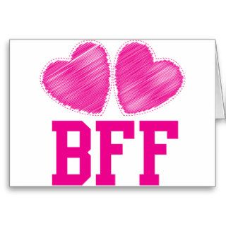 BFF Best friends forever  awesome Greeting Cards