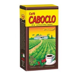 Roast n' Ground Coffee From Brazil   Caf� Torrado e Moido   Caboclo 17.60oz (500g) GLUTEN FREE : Coffee Brewing Machine Cups : Grocery & Gourmet Food