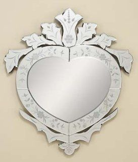 Shop Heart Shaped Venetian Glass Wall Mirror Etched at the  Home D�cor Store. Find the latest styles with the lowest prices from Universal