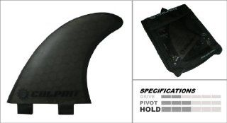 Culprit C3 Thruster Honeycomb Surf Board Fins (FCS M5 style)   Black : Surfboard Fins : Sports & Outdoors