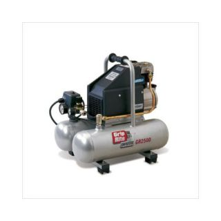 Grip Rite 4.2 Gallon 3 HP Oil Lubricated Direct Drive Electric Portable Twin Pontoon Single Stage Air Compressor Tools