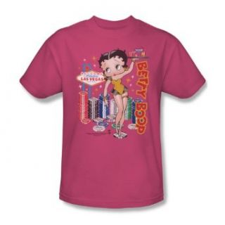 Betty Boop Wet Your Whistle Hot Pink Adult Shirt BB499 AT: Clothing