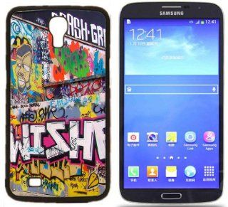 Graffiti art style Hard Rubber Side and Aluminum Back Case For Samsung I9200 Galaxy Mega 6.3 With 3 Pieces Screen Protectors: Cell Phones & Accessories