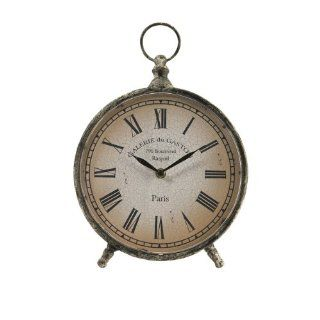 "11.5"" Distressed Over Sized ""Pocket Watch"" Style Roman Numeral Desk Clock"