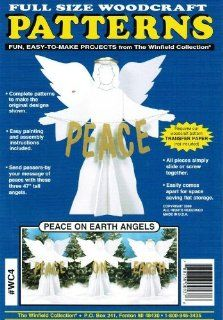 Peace on Earth Angels Christmas Yard Art Woodworking Plan   Woodworking Project Plans