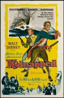 Kidnapped 1960 Original Movie Poster Adventure Disney Drama Family Bernard Lee, James MacArthur, Peter Finch Entertainment Collectibles