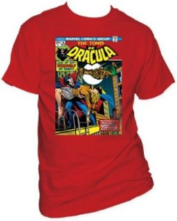 Men's Marvel Comics Tomb Of Dracula Werewolf By Night T shirt XXL Red Clothing