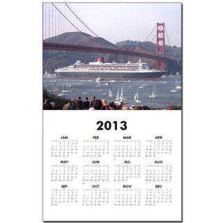 Queen Mary 2 under the Golden Gate Bridge Calendar Calendar Print   Standard   Wall Calendars