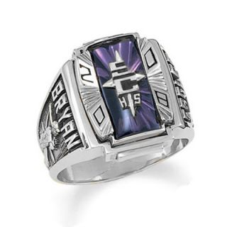 Mens Siladium® Crestline Legacy High School Class Ring by ArtCarved
