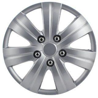 """Pilot Automotive WH523 14S BX Matte Silver 7 Spoke 14"""" Wheel Cover, (Set of 4): Automotive"""