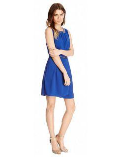 Oasis Lily embellished dress Blue