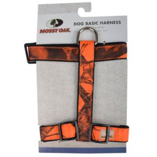 Mossy Oak Basic Dog Harness Orange Medium 747453