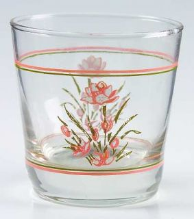Corning Peach Floral Glassware Old Fashioned, Fine China Dinnerware   Corelle, P