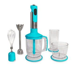 Wolfgang Puck Immersion Blender BIBC2020 Blue Electric Mixers Kitchen & Dining