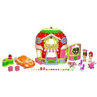 Strawberry Shortcake Bitty Berry Market Playset with Bonus Orange Blossom Doll & Vehicle: Toys & Games
