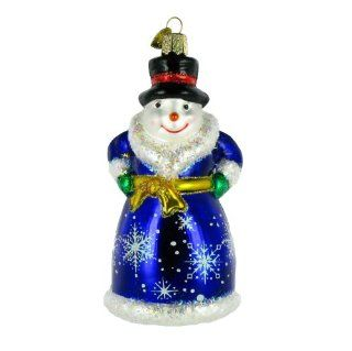 Shop Old World Christmas Glistening Victorian Snowman Glass Ornament at the  Home D�cor Store
