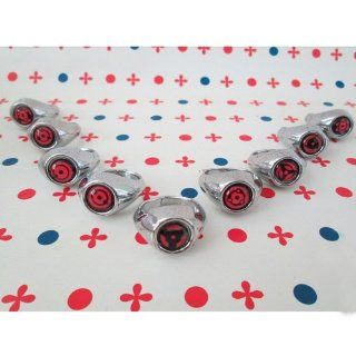 9 Pcs Brand New Naruto Shippuden Sharingan Rings W/ Box (Itachi, Kakashi, Madara) By Ghope: Toys & Games