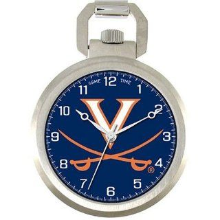 NCAA Men's COL PW UVA Pocket Collection Virginia Cavaliers Pocket Watch: Watches