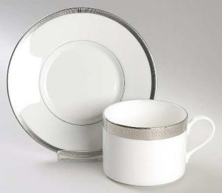 Ralph Lauren Chain Bracelet Flat Cup & Saucer Set, Fine China Dinnerware   Plati