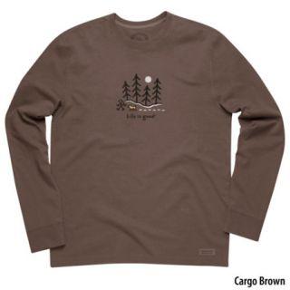 Life Is Good Mens Crusher Moonlight Woods Long Sleeve T Shirt 729094