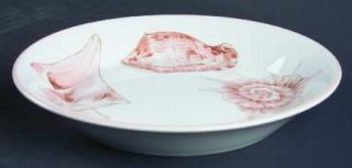 Fitz & Floyd Coquille Saucer, Fine China Dinnerware   Peach Shells, White Backgr