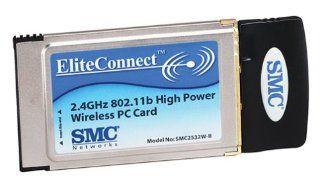 SMC2532W B EliteConnect 2.4GHz 802.11b High Power Wireless PC Card Electronics