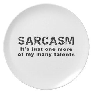 Sarcasm   Funny Sayings and Quotes Dinner Plate