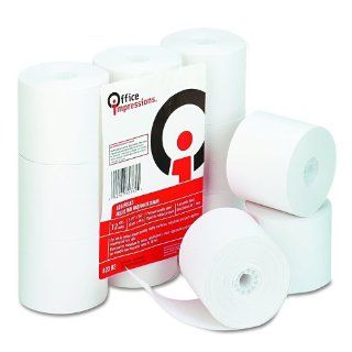 Office Impressions Calculator Plain Paper Rolls, 2.25 Inches Width x 150 Feet Length, White, 12 per Pack (82382)  Calculator And Cash Register Paper