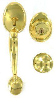 Dexter by Schlage JH60VBARXBYR605 Barcelona/Byron Combo Kit, Bright Brass   Door Handles