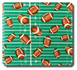 Collected Memories Football Fabric Covered 12 Inch by 12 Inch Premium Post Bound Scrapbook Album