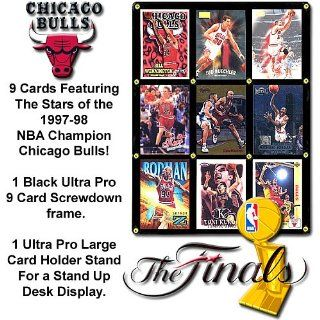 Burbank Sports Cards Chicago Bulls 97 98 Champions Trading Card Display : Sports Related Trading Cards : Sports & Outdoors