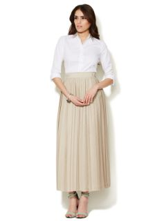 Jamie Pleated Ribbon Trim Skirt by Elie Tahari