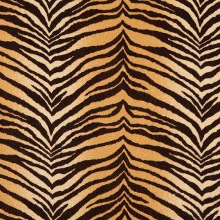 """54"""" E410 Multi Colored, Tiger, Animal Print Microfiber Upholstery Fabric By The Yard"""
