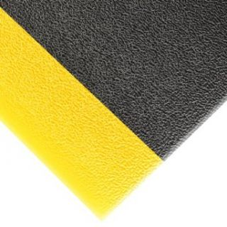 "NoTrax 415 Pebble Step Sof Tred Safety/Anti Fatigue Mat with Dyna Shield PVC Sponge, for Dry Areas, 2' Width x 3' Length x 3/8"" Thickness, Black/Yellow: Floor Matting: Industrial & Scientific"