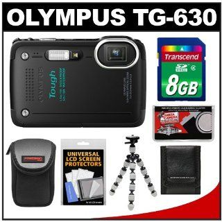 Olympus Tough TG 630 iHS Shock & Waterproof Digital Camera (Black) with 8GB Card + Case + Flex Tripod + Accessory Kit : Point And Shoot Digital Cameras : Camera & Photo